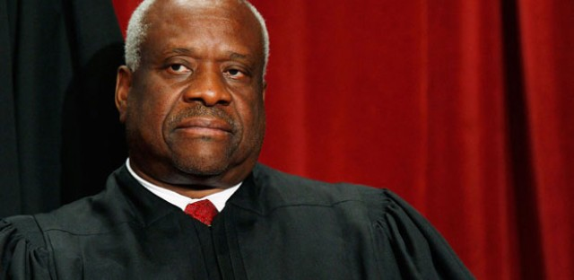 Before today, Justice Clarence Thomas hadn't asked a question from the Supreme Court bench since Feb. 22, 2006.