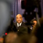 Chicago Police Superintendant Eddie Johnson answers questions during a news conference Friday, Jan. 13, 2017, in Chicago. The U.S. Justice Department issued a scathing report on civil rights abuses by Chicago's police department over the years. The report released Friday alleges that institutional Chicago Police Department problems have led to serious civil rights violations, including racial bias and a tendency to use excessive force.
