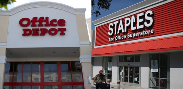 The merger between Staples and Office Depot is valued at $6.3 billion.