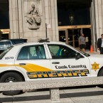 A Cook County Sheriff's car is shown in 2018. Sixty percent of eviction filings end in eviction orders, which can lead to a forced removal by the Cook County Sheriff's Office.