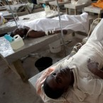 Cholera patients are treated at the Cholera Treatment Center in the Carrefour area of Port-au-Prince, Haiti, in December 2014. The Caribbean country's cholera outbreak started in 2010.