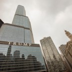 Trump International Hotel and Tower, center, in Chicago.