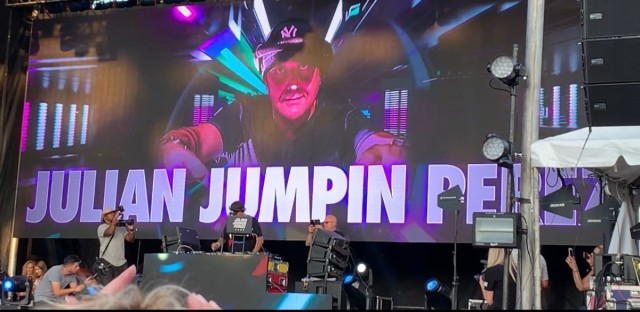 """Chicago house DJ Julian """"Jumpin"""" Perez spins at Festival Cubano on the Northwest Side, Friday, Aug. 9."""
