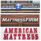 Every mattress store along a one-mile stretch north of the intersection of Clybourn, Halsted and North Ave