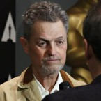 Jonathan Demme speaks with an interviewer at a 25th anniversary showing of The Silence of the Lambs at the Museum of Modern Art in New York City last year.