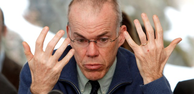 Environmental activist Bill McKibben speaks to the House Natural Resources and Energy Committee at Vermont's Statehouse on Feb. 7, 2012. (AP Photo/Toby Talbot)
