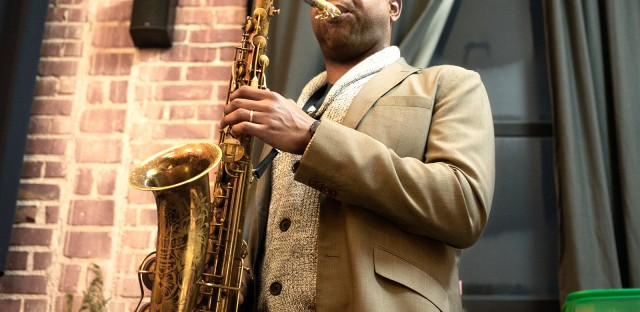 San Francisco Bay Area jazz saxophonist Howard Wiley performs at a Sound & Savor event.