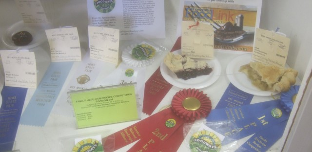 Winners of the competition displayed at the Iowa State Fair. Photo by Peter Engler.