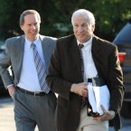 Jerry Sandusky, right, and his attorney Joe Amendola.