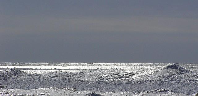 Lake Michigan in winter.