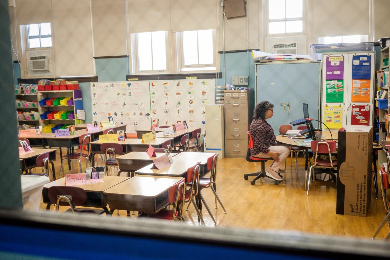 Olga Contreras classroom window