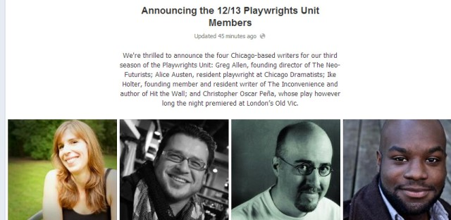 Daily Rehearsal: Goodman Theatre adds new members to Playwrights Unit