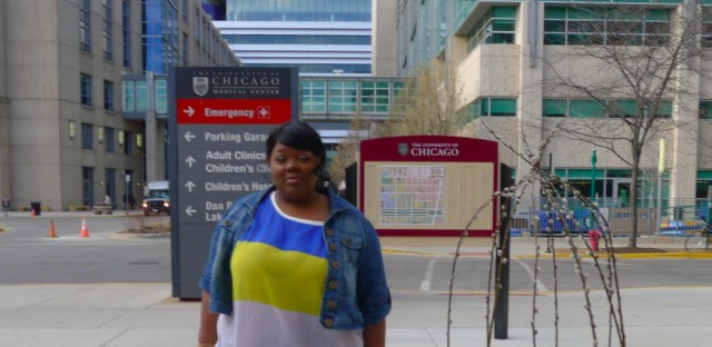 Veronica Morris-Moore is part of a coalition pushing for an adult trauma center on the University of Chicago hospital campus.