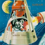 The story of Laika (above, in a postage stamp from the Emirate of Ajman, now part of the UAE)
