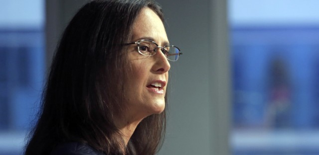 Illinois Attorney Gen. Lisa Madigan speaks at a news conference, in Chicago.