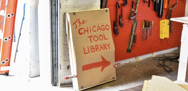 Sign for Chicago Tool Library