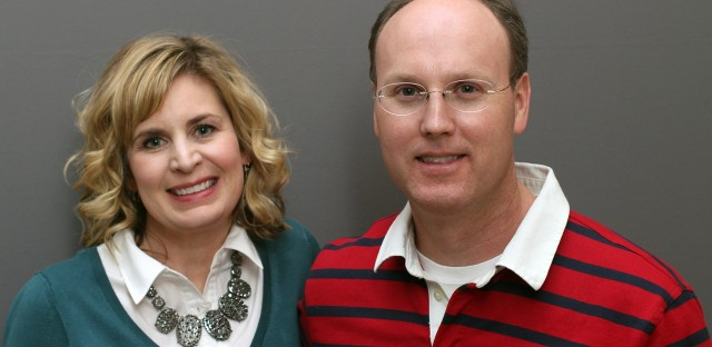 Fred Taylor Jr. and his wife, Julie, during a recent visit to StoryCorps.