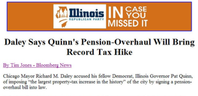 What's the point? An odd email from the Illinois GOP.