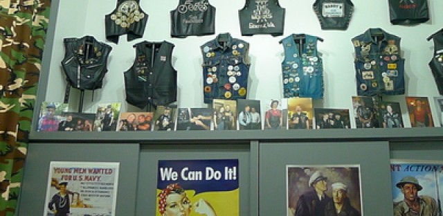 An assortment of vests were among the many items on display.