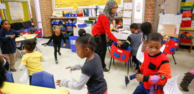 Tomiko Ball's classroom at Orr Elementary School in southeast Washington, D.C. (Elissa Nadworny/NPR)