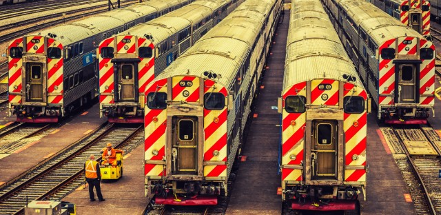 Metra Rail Train Yard