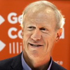Illinois Gov. Bruce Rauner talks to reporters and participants while attending the Illinois Department of Corrections Summit of Hope event for parolees Wednesday, June 8, 2016, in Springfield, Ill. Illinois House Democrats have cancelled a scheduled legislative session while the state prepares to enter its second year without a spending plan.