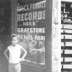 Marsha Music in the door of her father's record shop, circa 1960. (Courtesy of Marsha Music)