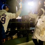 Cubs Fan High Fives Chef At Wrigley During World Series Game 5