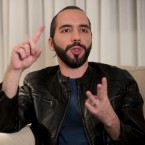 Presidential frontrunner Nayib Bukele, of the Grand National Alliance for Unity or GANA,speaks during an interview, in San Salvador, El Salvador, Tuesday, Jan. 29, 2019. The young entrepreneur has his sights set on combating corruption and promises to create an anti-corruption commission similar to its Central American neighbors.