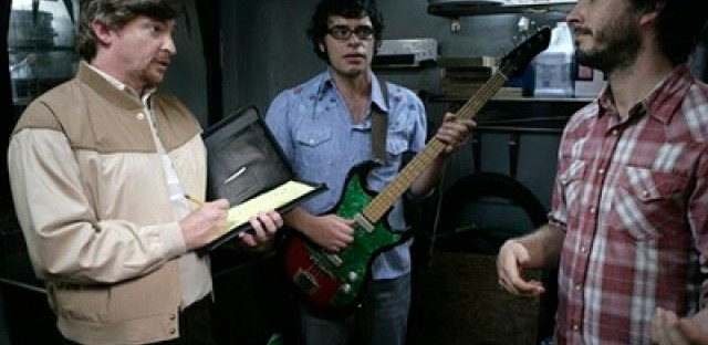 Rhys Darby (left) of <em>Flight of the Conchords.</em>