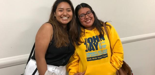 Jenifer Guzman, left, and Paola Ponce are both DACA recipients. Guzman is a junior at Hunter College, Ponce is a junior at John Jay College of Criminal Justice.
