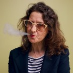 Film director Lucrecia Martel smokes a cigar as she poses for portraits in Venice on Aug. 31, 2017.