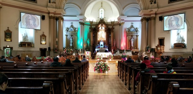 Congregants gathered Wednesday morning at Our Lady of Tepeyac church in Chicago's Little Village neighborhood to celebrate the Virgin of Guadalupe.