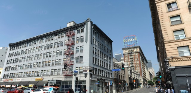 The 1910 era, 204 room Baltimore Hotel, left, is shown on Friday, August 24, 2018 in Los Angeles. The historic hotel on Skid Row is the fourth property purchased by AHF's Healthy Housing Foundation as part of their effort to address the homeless crisis in Los Angeles. The King Edward Hotel, another of AHF's recently purchased properties, is pictured on the right.
