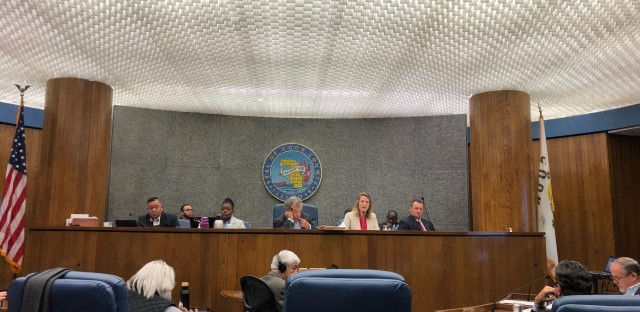 Amy Campanelli addresses the Cook County Board in budget hearings Oct. 29, 2019