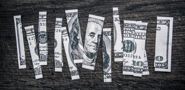 Chopped up money