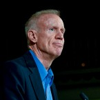 Illinois Gov. Bruce Rauner speaks to supporters after losing his re-election bid to Democratic gubernatorial candidate JB Pritzker in Chicago on Tuesday, Nov. 6, 2018.