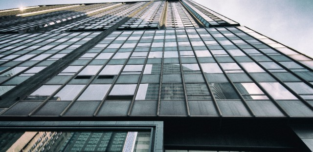 151 N. Michigan-looking straight up from the corner
