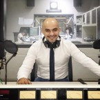 Ukrainian-Afghan Journalist Mustafa Nayyem at the WBEZ Studios