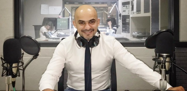 Ukrainian-Afghan Journalist Mustafa Nayyem at the WBEZ Studios