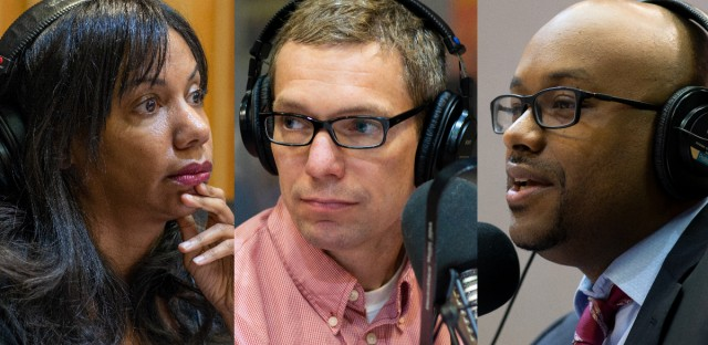 Joining 'Morning Shift' for this week's news roundup are WBEZ's Natalie Moore (left), Mick Dumke (center) with ProPublica Illinois, and WGN's Tahman Bradley (right).