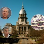 Illinois Capitol, Rauner, Preckwinkle, Money in politics