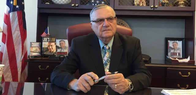 The famous hard-line anti-immigration sheriff Joe Arpaio of Maricopa County, Ariz., has endorsed Donald Trump for president ahead of the primary there.