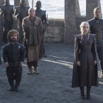 """In a 2012 interview with NPR, Peter Dinklage (second actor from left) said he appreciated how well-rounded his Game of Thrones character is. The show """"does address the size issue, but it doesn't knock you over the head with it,"""" he said."""