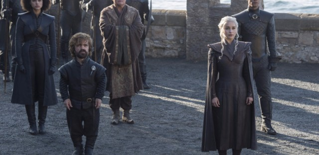 "In a 2012 interview with NPR, Peter Dinklage (second actor from left) said he appreciated how well-rounded his Game of Thrones character is. The show ""does address the size issue, but it doesn't knock you over the head with it,"" he said."