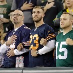 chicago bears wisconsin packers lock arms national anthem NFL Trump