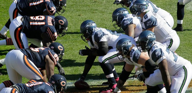 The Chicago Bears and Seattle Seahawks Oct. 17, 2010.