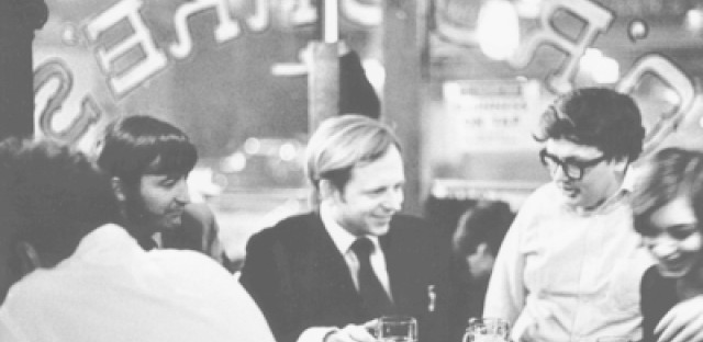 Hantschel and Danahey say O'Rourke's was a hangout for journalists, including Roger Ebert (pictured at right).