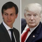 Jared Kushner (left), President Trump's son-in-law; President Trump; and White House chief strategist Steve Bannon.