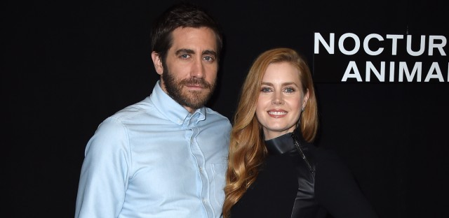 "Jake Gyllenhaal and Amy Adams attend a photo call for ""Nocturnal Animals"" on Oct. 28, 2016 in Los Angeles."